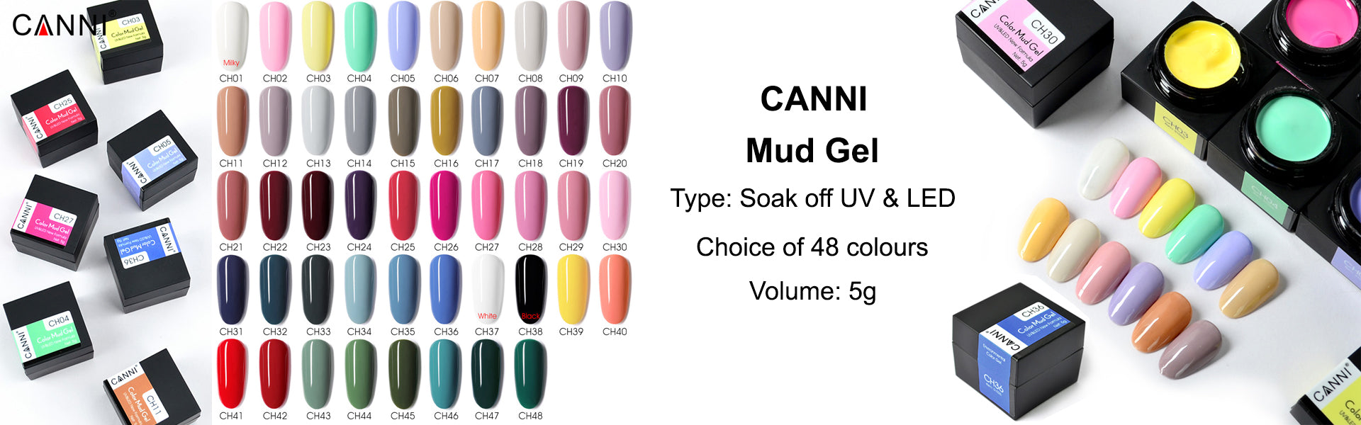 Soak Off UV LED Mud Gel by CANNI