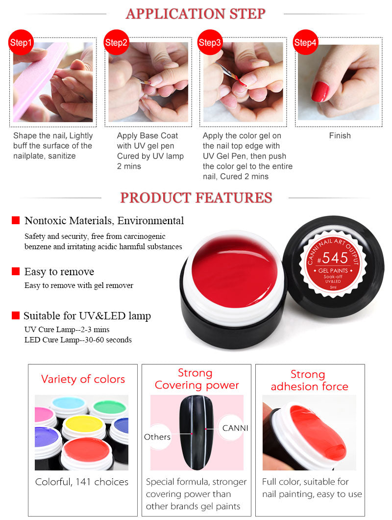 How to apply CANNI nail art gel