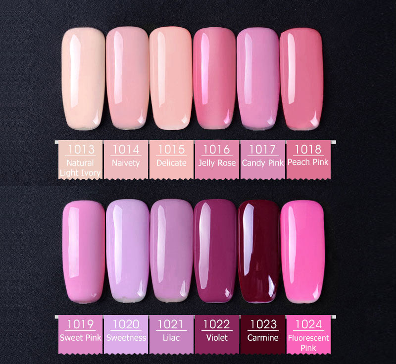 Premium Nail Gel Polish Shade Card 1001 to 1060