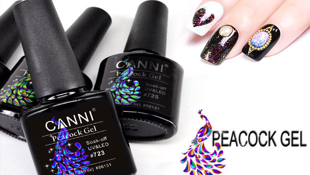 CANNI Special Effect Peacock Starry UV Nail Varnish