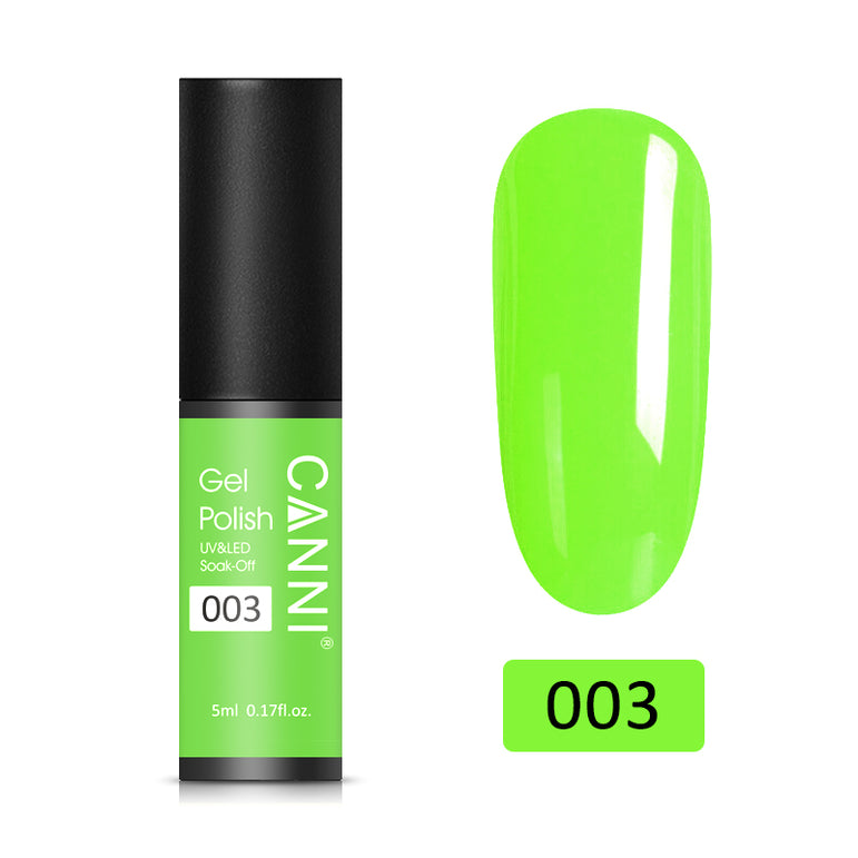 03 - CANNI UV Nail Gel Varnish Neon Green (5ml)