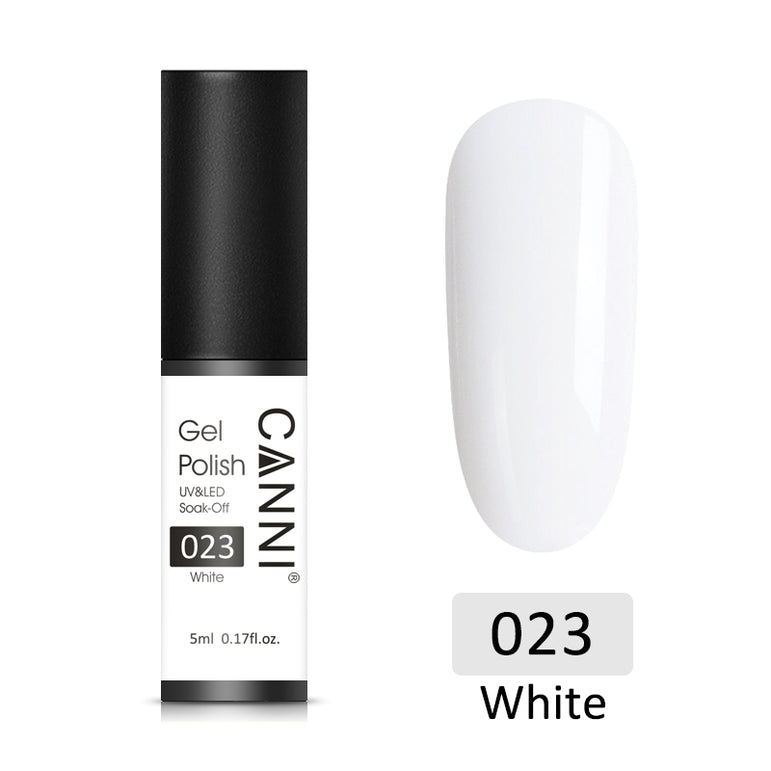 23 - CANNI UV Nail Gel Varnish Pure White (5ml)