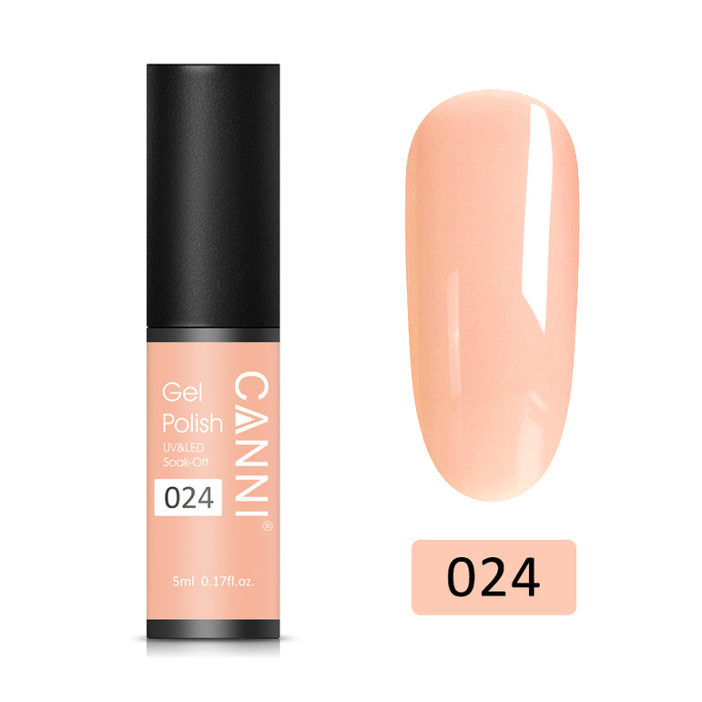 24 - CANNI UV Nail Gel Varnish Orange Pink (5ml)