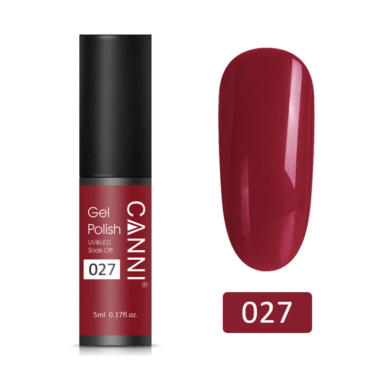 27 - CANNI UV Nail Gel Varnish Dark Red (5ml)