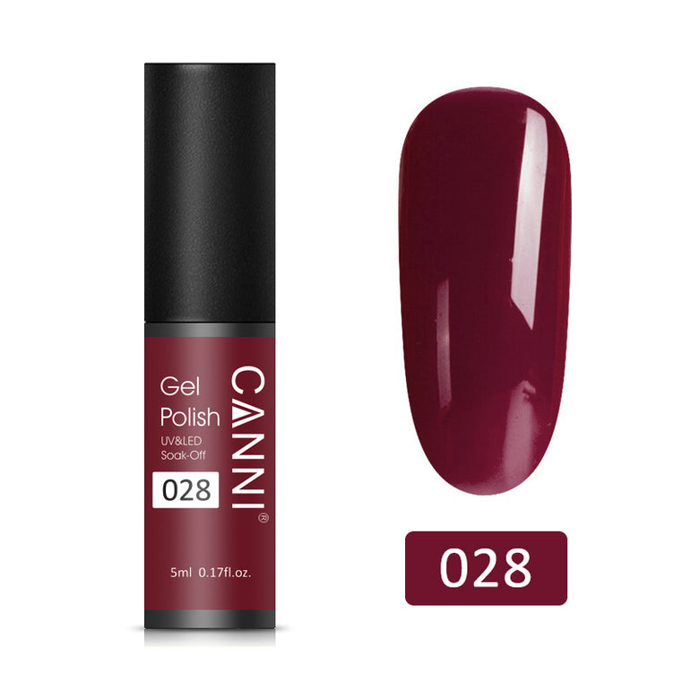 28 - CANNI UV Nail Gel Varnish Rouge Red (5ml)