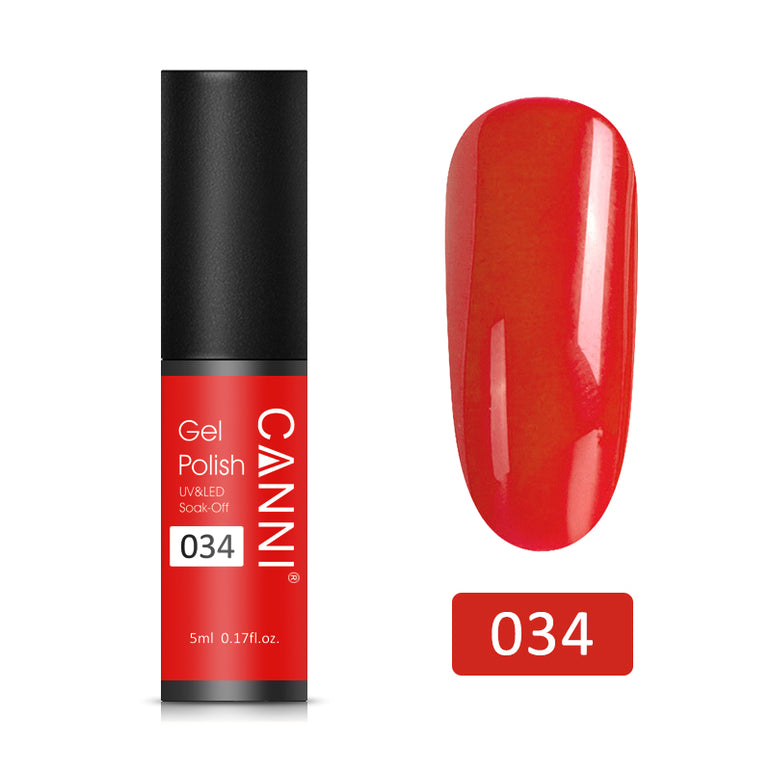 34 - CANNI UV Nail Gel Varnish Carrot Red (5ml)