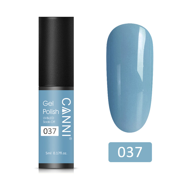 37 – CANNI UV Nail Gel Varnish Grey-Blue (5ml)