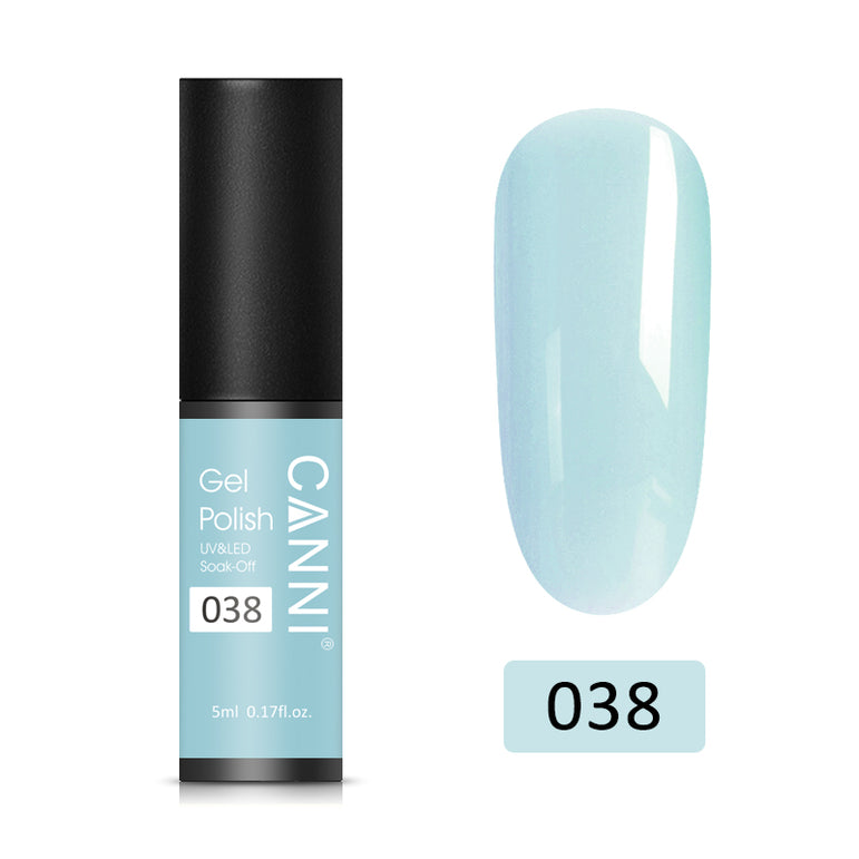 38 - CANNI UV Nail Gel Varnish Light Blue-Grey (5ml)