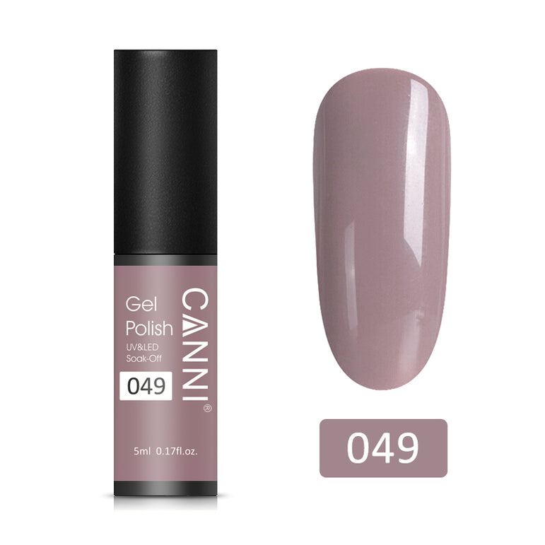 49 - CANNI UV Nail Gel Varnish Khaki Gray (5ml)
