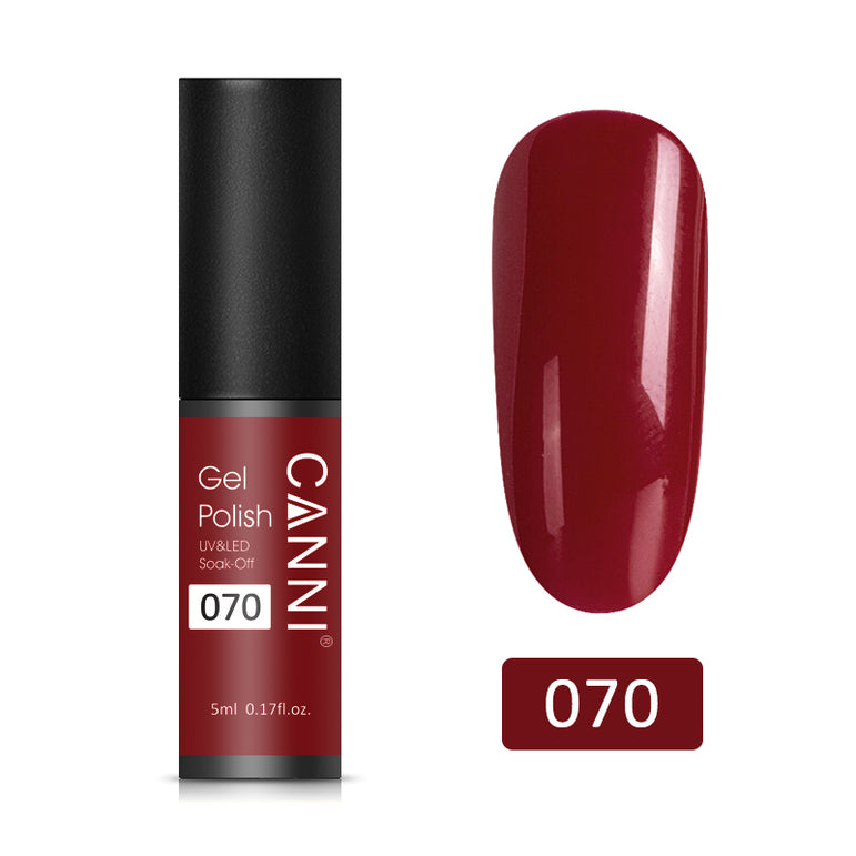 70 - CANNI UV Nail Gel Varnish Royal Garnet (5ml)