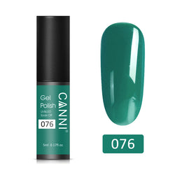 76 - CANNI UV Nail Gel Varnish Dark Emerald (5ml)