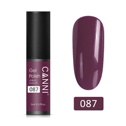 87 - CANNI UV Nail Gel Varnish Grey Plum (5ml)