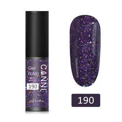 190 – CANNI UV Nail Gel Varnish Purple Glitter (5ml)