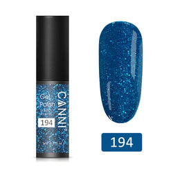 194 - CANNI UV Nail Gel Varnish Blue Pearl