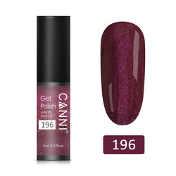 196 - CANNI UV Nail Gel Varnish Plum Nacre (5ml)