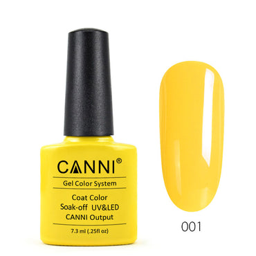 01 - CANNI UV Nail Gel Varnish Colour Mango Yellow