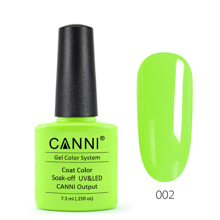 02 - CANNI UV Nail Gel Varnish Colour Fresh Yellow-Green