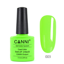 03 - CANNI UV Nail Gel Varnish Colour Neon Green