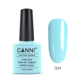 04 - CANNI UV Nail Gel Varnish Colour Cyan Light