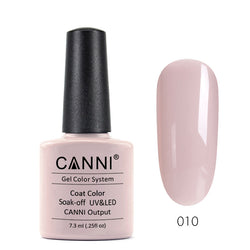 10 - CANNI UV Nail Gel Varnish Colour Grey Pink