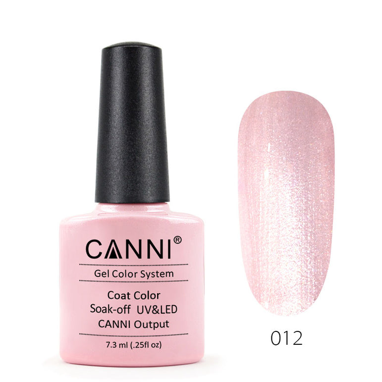 12 - CANNI UV Nail Gel Varnish Colour Mother of Pearl Cream