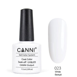 23 - CANNI UV Nail Gel Varnish Colour Pure White