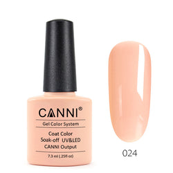 24 - CANNI UV Nail Gel Varnish Colour Orange Pink