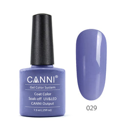 29 - CANNI UV Nail Gel Varnish Colour Pale Purple-blue