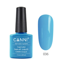 36 - CANNI UV Nail Gel Varnish Colour Turquoise-Blue