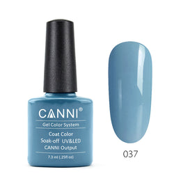 37 – CANNI UV Nail Gel Varnish Colour Grey-Blue