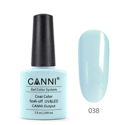 38 - CANNI UV Nail Gel Varnish Colour Light Blue-Grey