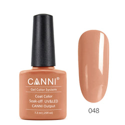 48 - CANNI UV Nail Gel Varnish Colour Soft Orange