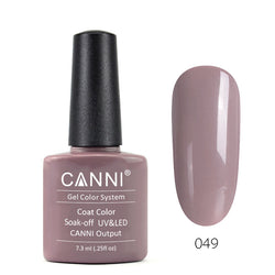 49 - CANNI UV Nail Gel Varnish Colour Khaki Gray