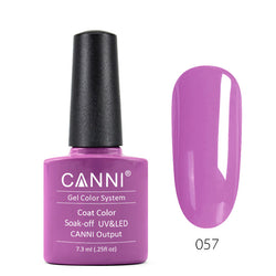 57 - CANNI UV Nail Gel Varnish Colour Elegant Purple