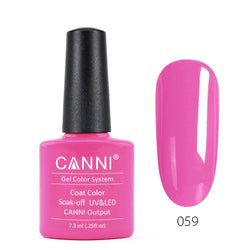 59 - CANNI UV Nail Gel Varnish Colour Bright Pink
