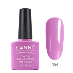 64 - CANNI UV Nail Gel Varnish Colour Purple Wizard
