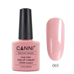 65 - CANNI UV Nail Gel Varnish Colour Pale Pink
