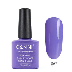 67 - CANNI UV Nail Gel Varnish Colour Pale Purple