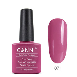 71 - CANNI UV Nail Gel Varnish Colour Pale Violet Red