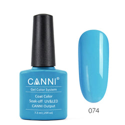 74 - CANNI UV Nail Gel Varnish Colour Fresh Blue