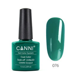 76 - CANNI UV Nail Gel Varnish Colour Dark Emerald