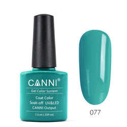 77 - CANNI UV Nail Gel Varnish Colour Turquoise