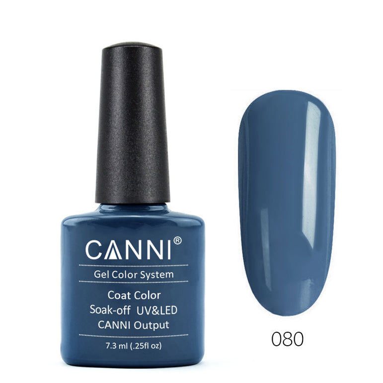 80 - CANNI UV Nail Gel Varnish Colour Deep Steel Blue