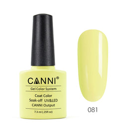 81 - CANNI UV Nail Gel Varnish Colour Shock Yellow