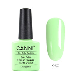 82 - CANNI UV Nail Gel Varnish Colour Milk Green