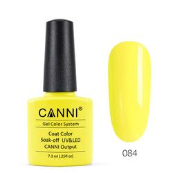 84 - CANNI UV Nail Gel Varnish Colour Milk Yellow