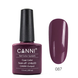 87 - CANNI UV Nail Gel Varnish Colour Grey Plum