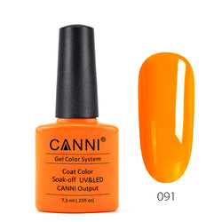 91 - CANNI UV Nail Gel Varnish Colour Bright Orange
