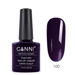 100 - CANNI UV Nail Gel Varnish Colour Violet Black