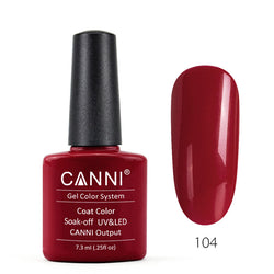104 - CANNI UV Nail Gel Varnish Colour Rust Red